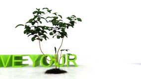 Sparen uw planeet, milieubehoudsconcept, voorraadlengte royalty-vrije illustratie