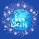 Sparen van de het Milieudag van de Aardewereld van de de Ecologiebescherming de Kaart van de de Vakantiegroet Stock Foto