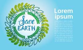 Sparen van de het Milieudag van de Aardewereld van de de Ecologiebescherming de Kaart van de de Vakantiegroet Royalty-vrije Stock Afbeeldingen
