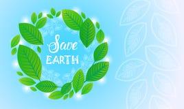 Sparen van de het Milieudag van de Aardewereld van de de Ecologiebescherming de Kaart van de de Vakantiegroet Royalty-vrije Stock Foto's