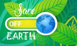 Sparen van de het Milieudag van de Aardewereld van de de Ecologiebescherming de Kaart van de de Vakantiegroet Stock Afbeeldingen