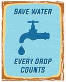 Sparen water Stock Afbeelding