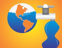 Sparen water bewaar de wereld Royalty-vrije Stock Fotografie