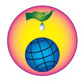 Sparen water bewaar het levensconcept vector illustratie