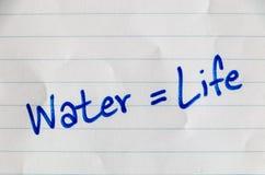 Sparen water op pagina Royalty-vrije Stock Foto