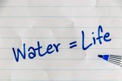 Sparen water op pagina Stock Afbeeldingen