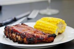 Spareribs de BBQ photo stock