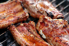 Spareribs on the grill Royalty Free Stock Image