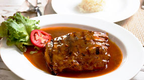 Spareribs for lunch Royalty Free Stock Photography