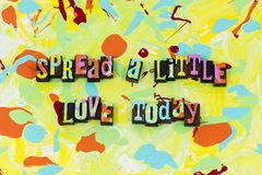 Sparga poca gentilezza romanzesca di felicità di oggi di amore illustrazione vettoriale