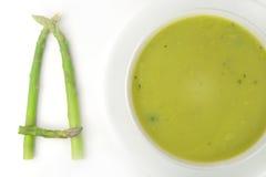 Spargel-Suppe Stockbild