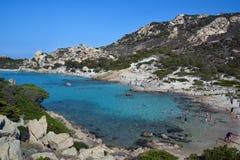 Spargi, isla del archipiélago de Magdalena del La en Cerdeña del noreste, Sassari Fotografía de archivo libre de regalías
