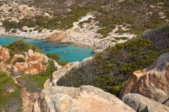 Spargi, isla del archipiélago de Magdalena del La en Cerdeña del noreste, Sassari Imagenes de archivo