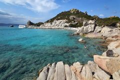 Spargi, isla del archipiélago de Magdalena del La en Cerdeña del noreste, Sassari Imagen de archivo libre de regalías