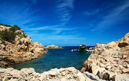 Spargi Island. View of a coast of the Spargi's Island in Sardinia Royalty Free Stock Images