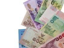 Spargimento tailandese dei soldi Immagine Stock
