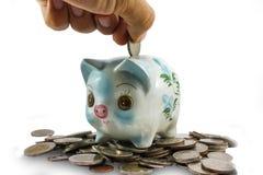 Spargris besparingar, pengar Fotografering för Bildbyråer