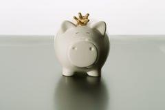 Spargris besparingar, valuta arkivbilder