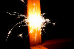 Spark in the dark Royalty Free Stock Photos