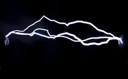 Spark discharge Royalty Free Stock Images