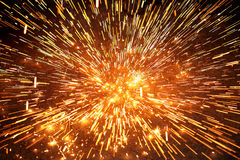 Spark explosion Royalty Free Stock Images