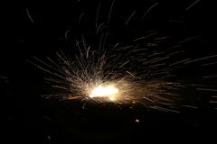 Spark. Firecrackers during combustion of spark Stock Photo