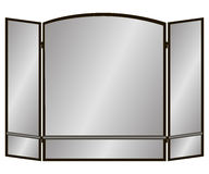 Spark Guard. Three Pane arch screen with two lines for the fireplace. Vector illustration Stock Photos