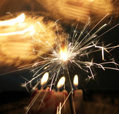 Spark lights. For new year celebration or birthday Stock Images