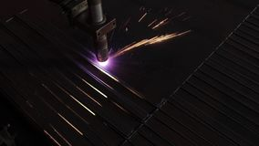 Spark and metal. Metal cutting, spark and steel stock video