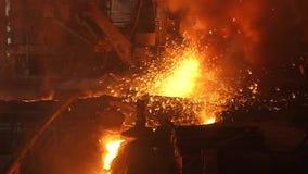 Spark molten iron