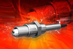 Spark plug. Digital illustration of spark plug in color background Royalty Free Stock Image