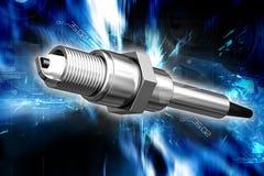Spark plug. Digital illustration of spark plug in color background Royalty Free Stock Images