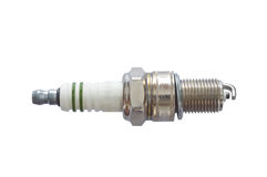 Spark plug isolated. On white background stock photos