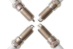 Spark plugs. Isolated on a white background Stock Image