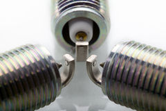 Spark plugs Royalty Free Stock Images