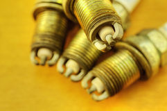 Spark plugs Royalty Free Stock Photos