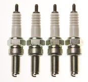 Spark plugs. Are used in gasoline engines to fire a gas mixture Stock Photo