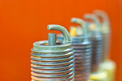 Spark plugs Stock Photos
