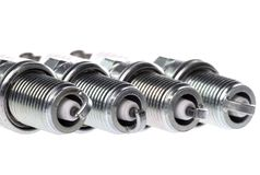 Spark Plugs Isolated. Isolated image of new spark plugs stock image