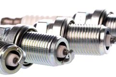 Spark Plugs Isolated Royalty Free Stock Photo