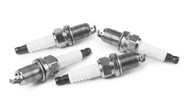 Spark plugs isolated. On a white background royalty free stock image