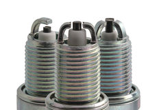 Spark plugs in profile different types Royalty Free Stock Image