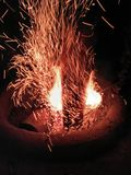 Spark. To light the night bright enough Royalty Free Stock Photography