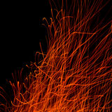 Spark trails at night Royalty Free Stock Images