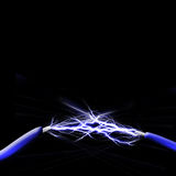 Spark between two wires Stock Images