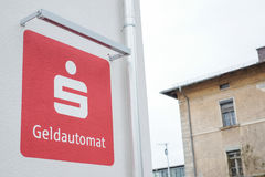 Sparkasse ATM Stock Foto
