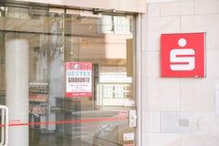 Sparkasse entrance Royalty Free Stock Image