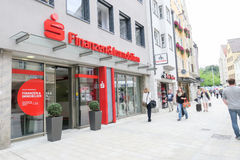 Sparkasse financial and real estate Royalty Free Stock Photos