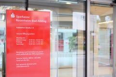 Sparkasse rosenheim-Slechte Aibling Royalty-vrije Stock Foto