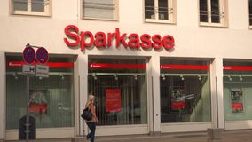Sparkasse stock video footage